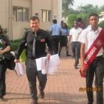 Delegates arriving